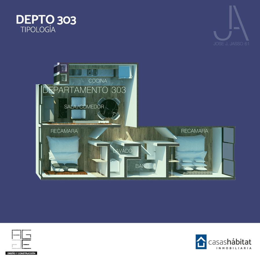 Foto Departamento en Venta en  Venustiano Carranza ,  Ciudad de Mexico  José J Jasso 61 - 303