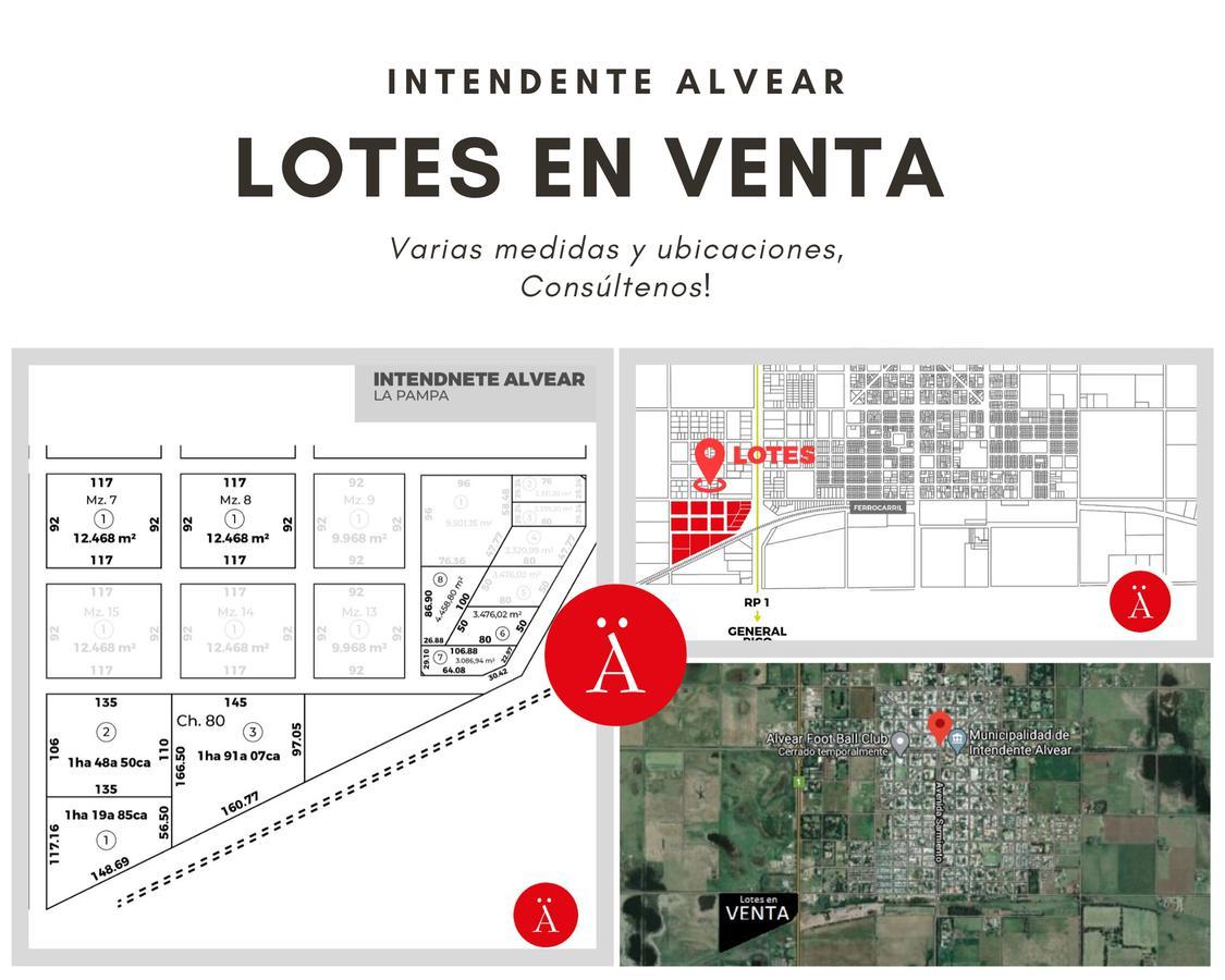 Foto Terreno en Venta en  Intendente Alvear,  Chapaleufu  Ruta 1 y Vías del Ferrocarril - Intendente Alvear