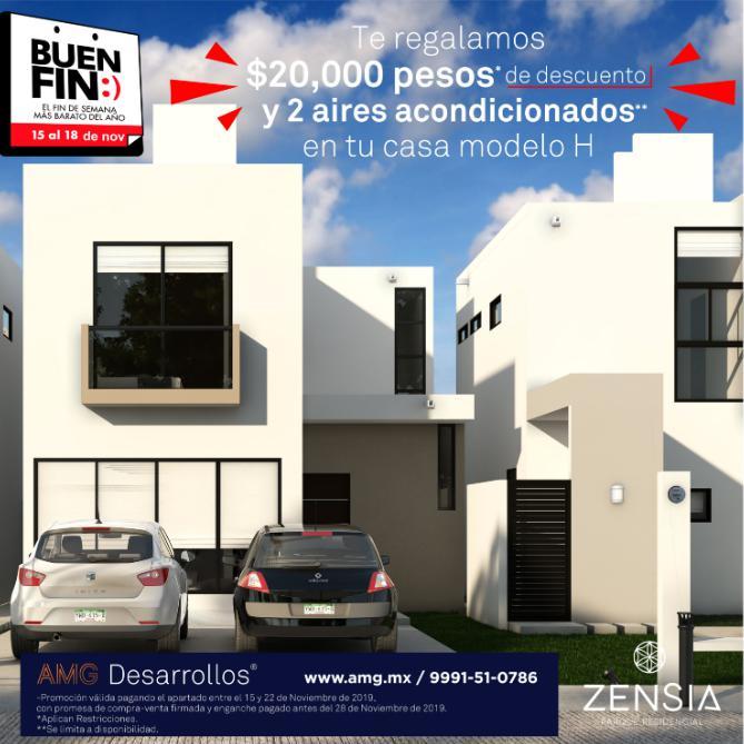 Foto Casa en Venta en  Pueblo Conkal,  Conkal  Casa en venta en Merida, Zensia Parque Residencial, modelo H