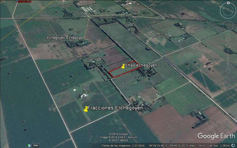 Foto Campo en Venta en  Etchegoyen,  Exaltacion De La Cruz  Etchegoyen 3,7 hectáreas