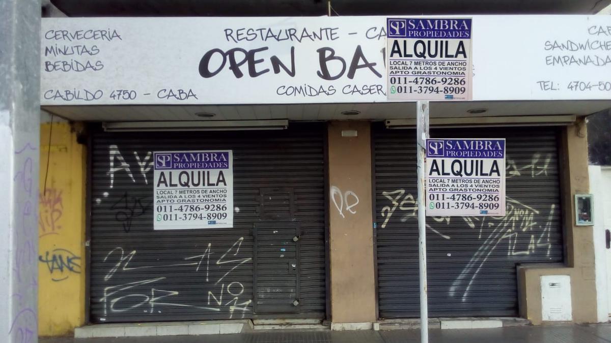 Foto Local en Alquiler en  Nuñez ,  Capital Federal  Local en alquiler con 7mts de Vidriera!!!!! Sobre Av. Cabildo 4750 Apto Gastronomia. Salida a los 4 vientos!!!!! PB 80m2 con 7 de Vidriera.  No paga Expensas Marcos Sambra SAMBRA PROPIEDADES