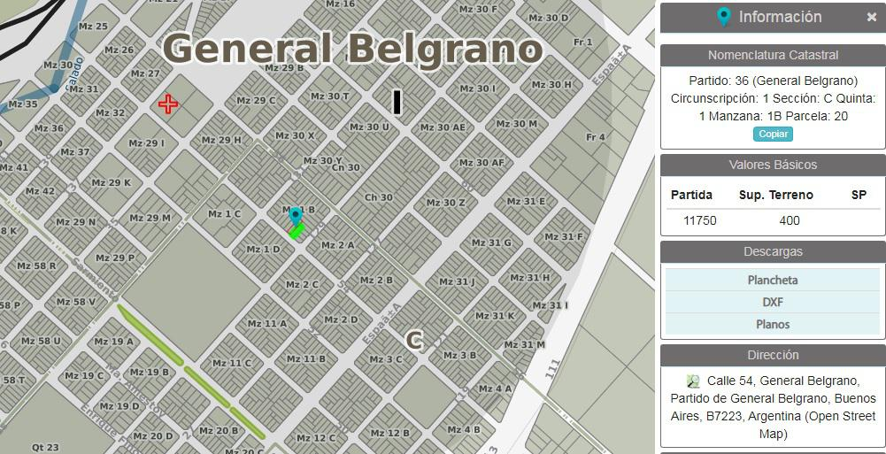 Foto Terreno en Venta en  Barrio Parque,  General Belgrano  Calle 54 y 29