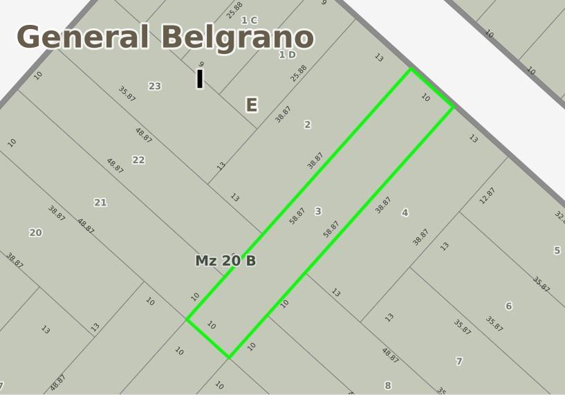 Foto Terreno en Venta en  Barrio Parque,  General Belgrano  Calle 70 entre 133 y 135