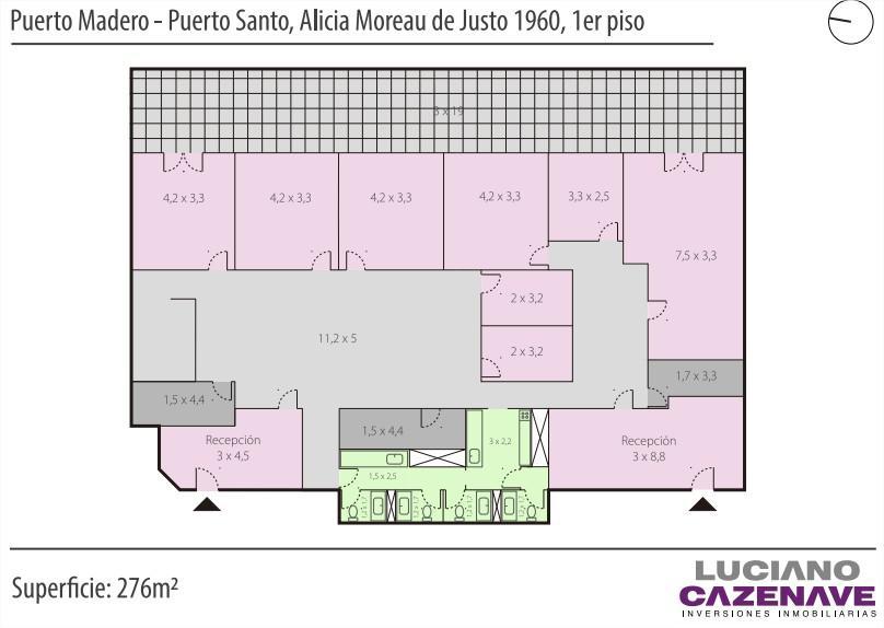 Foto Oficina en Alquiler en  Puerto Madero,  Centro (Capital Federal)      Alicia Moreau de Justo al 1900 Piso 1