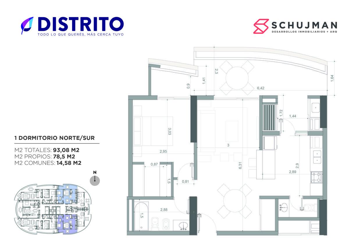 Foto Departamento en Venta en  San Miguel De Tucumán,  Capital  VENTA 1 dormitorio Torre del Jacaranda 2