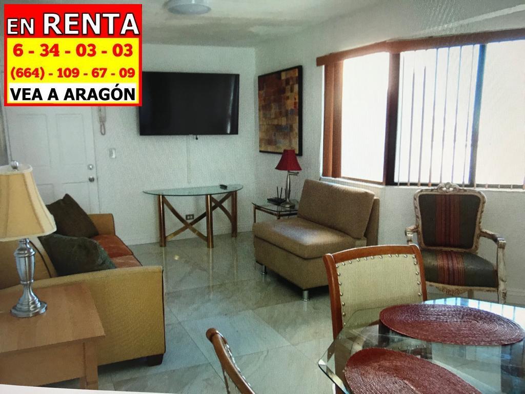 Foto Departamento en Renta en  Tijuana ,  Baja California Norte  RENTAMOS PRECIOSO DEPARTAMENTO TOTALMENTE AMUEBLADO EN ZONA RÍO