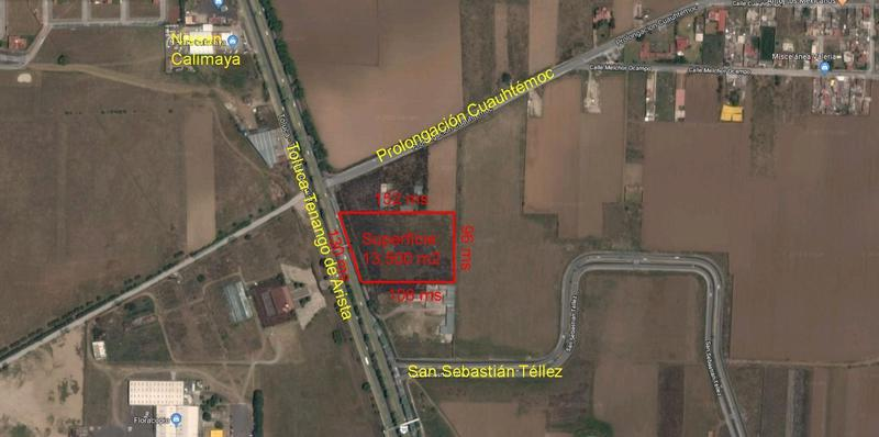 Foto Terreno en Venta en  Guadalupe,  Calimaya  Venta Terreno Industrial en carretera toluca-tenango Calimaya, 13,500 m2