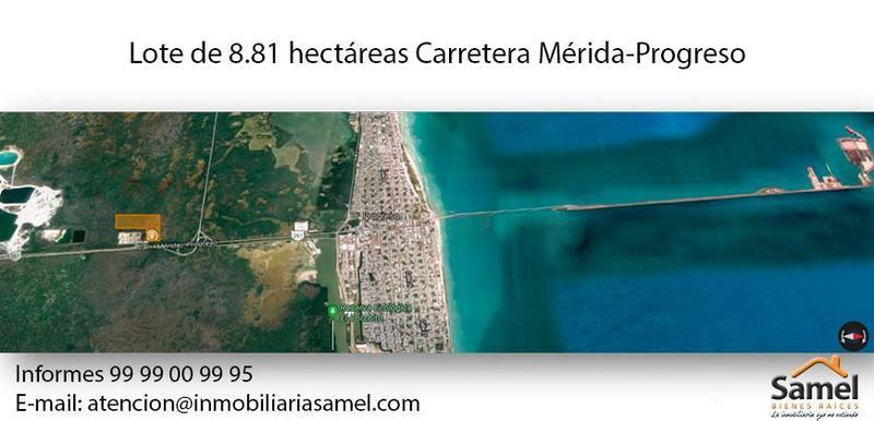 Foto Terreno en Venta en  Progreso de Castro Centro,  Progreso  Terreno De 8.81 Has En Carretera Mérida Progreso