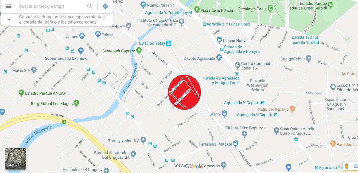 Foto Terreno en Venta en  Capurro Bella Vista ,  Montevideo  1200 m2 - Terreno en Santiago Labandera -