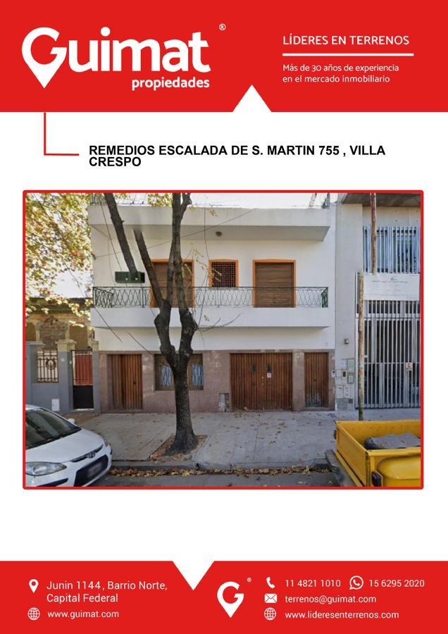 Foto Terreno en Venta en  Villa Crespo ,  Capital Federal  REMEDIOS DE ESCALADA DE SAN MARTIN al 700