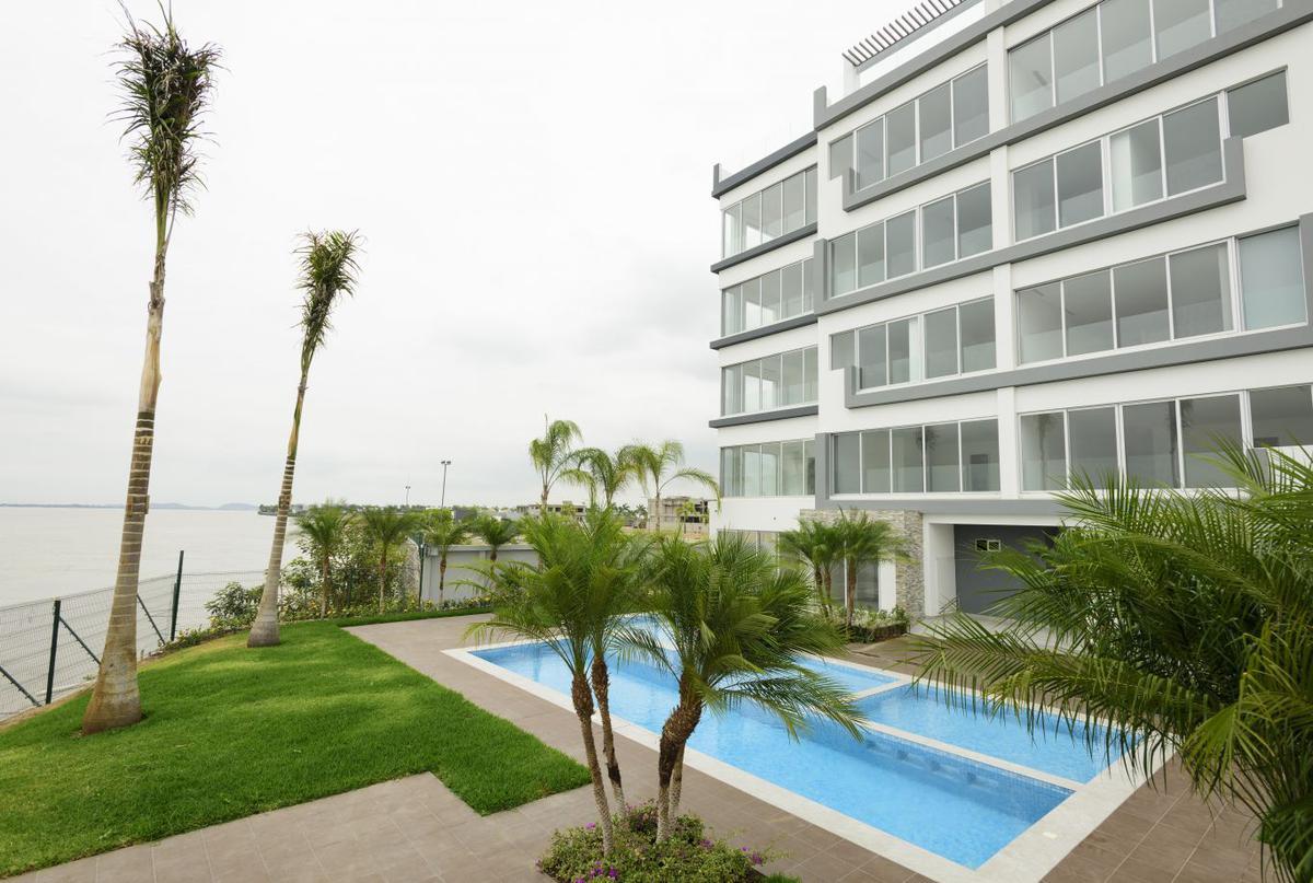 Foto Departamento en Venta en  Samborondón,  Guayaquil  Isla  Mocoli, Urb. Mocoli Gardens, Edificio Platinum Se vende departamento con vista al rio