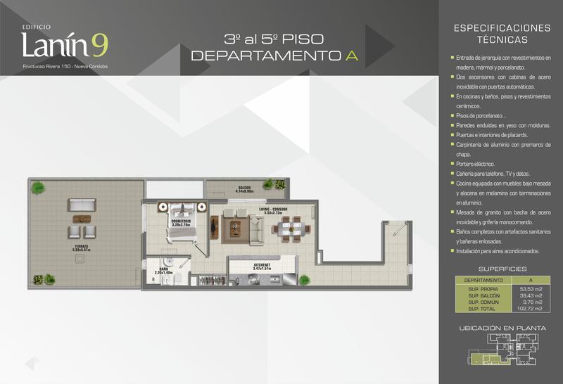 Foto Departamento en Venta en  Nueva Cordoba,  Cordoba Capital  Lanin 9-Fructuoso Rivera 150
