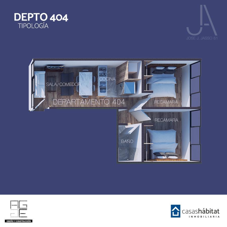 Foto Departamento en Venta en  Venustiano Carranza ,  Ciudad de Mexico  José J Jasso 61 - 404