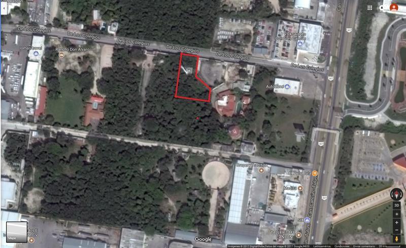 Foto Terreno en Venta en  Colegios,  Cancún  AVENIDA COLEGIOS