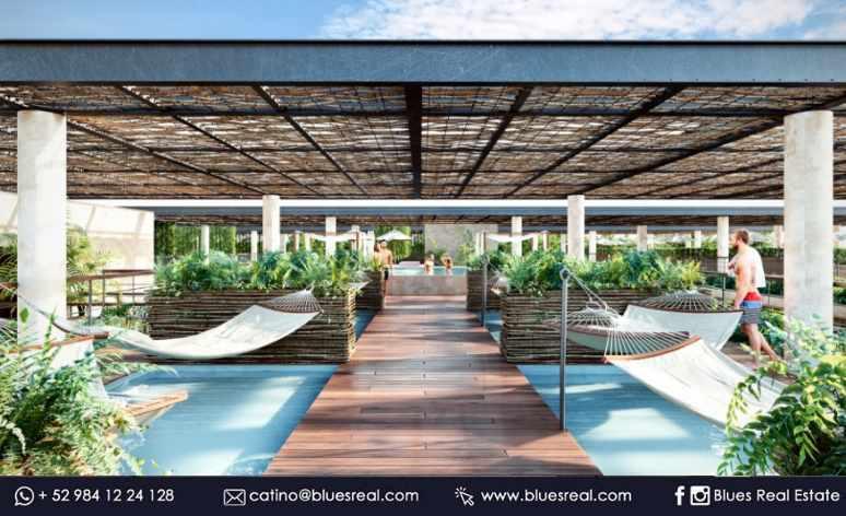 Picture Apartment in Sale in  Tulum ,  Quintana Roo  Luxury condos in Amelia Tulum | Blues Real | Code 923