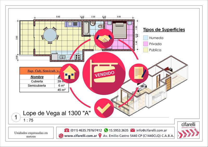 Foto Departamento en Venta en  Villa Luro ,  Capital Federal  Lope de Vega al 1300 9° A