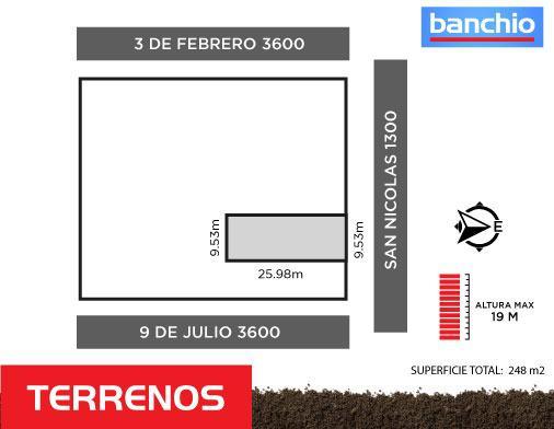 San Nicolás al 1300, Rosario, Santa Fe. Venta de Terrenos - Banchio Propiedades. Inmobiliaria en Rosario