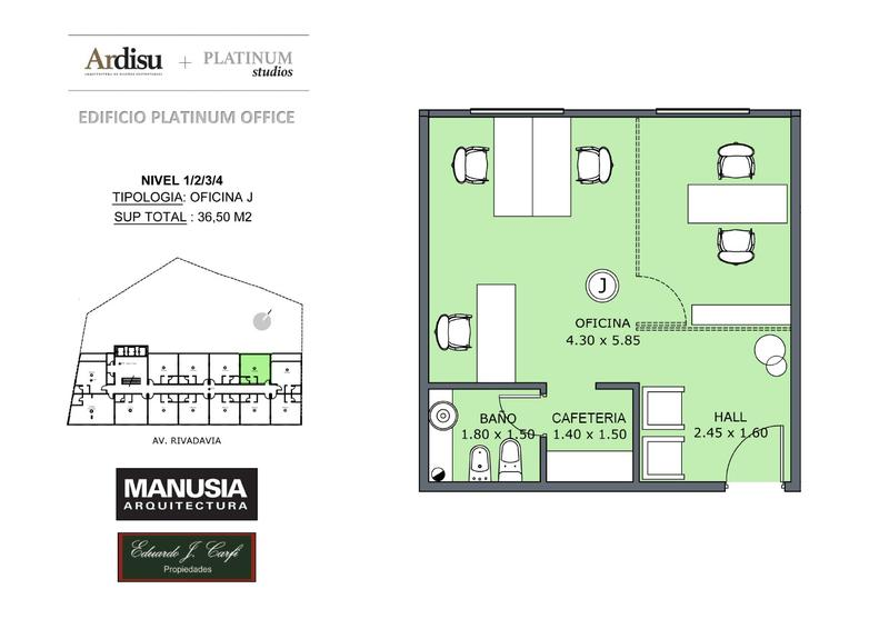 Foto Oficina en Venta en  Castelar Norte,  Castelar  Platinum Office - Rivadavia 19.861 (1J)