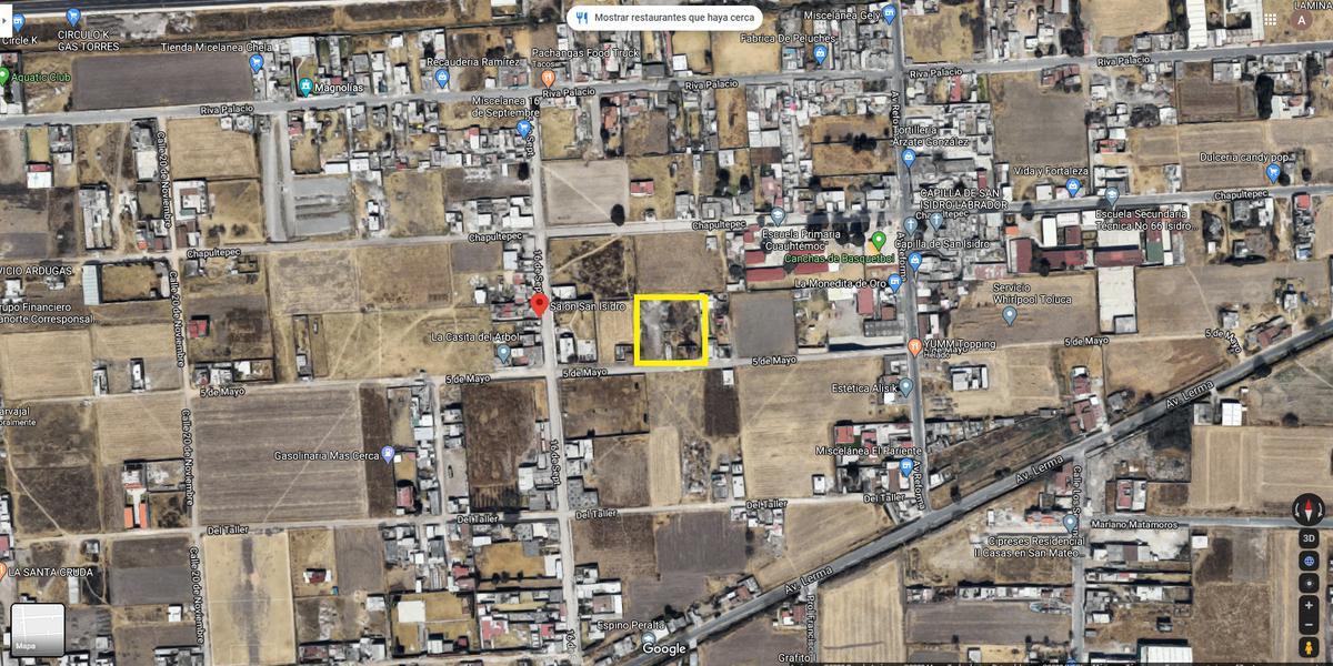 Foto Terreno en Venta en  San Isidro,  San Mateo Atenco  Terreno en Venta para Desarrolladores de 2025m2 en San Mateo Atenco