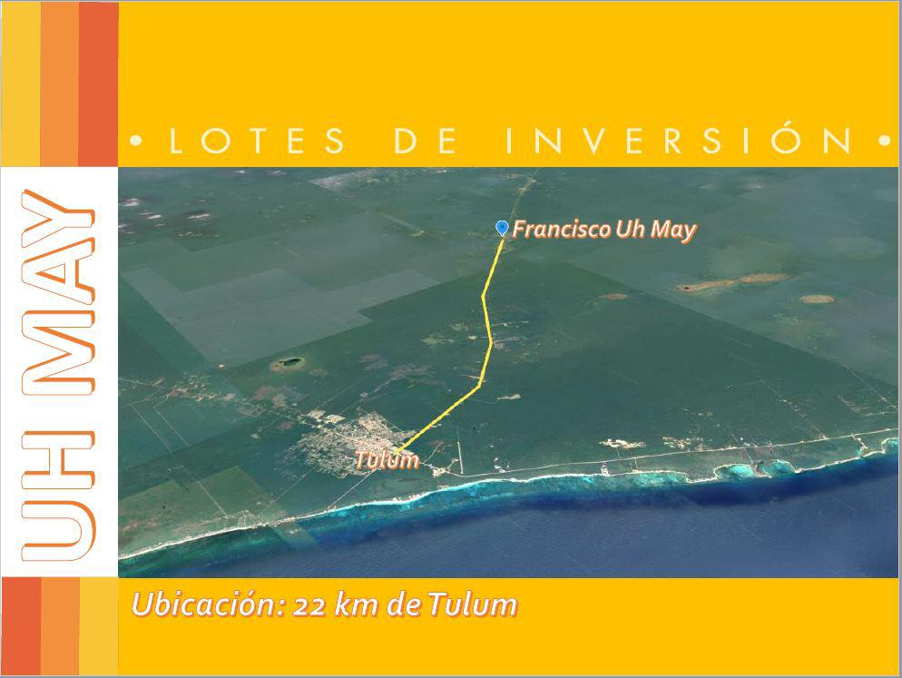 Foto Terreno en Venta en  Francisco Uh-May,  Tulum  TERRENO EN FRANCISCO UH MAY GRANDE