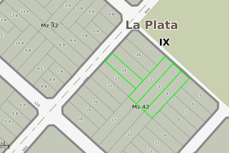 Foto Terreno en Venta en  La Plata ,  G.B.A. Zona Sur  604 entre 116 y 116 bis
