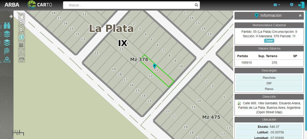 Foto Terreno en Venta en  Villa Parque Sicardi,  La Plata  calle al 600