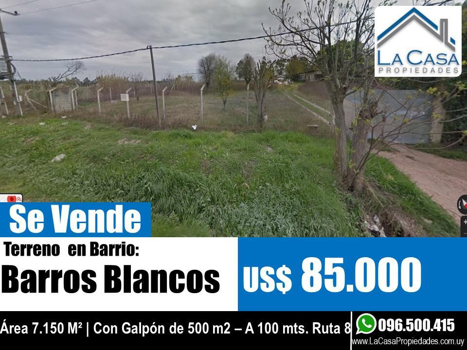 Foto Terreno en Venta en  Barros Blancos ,  Canelones  Los Olivos s/n