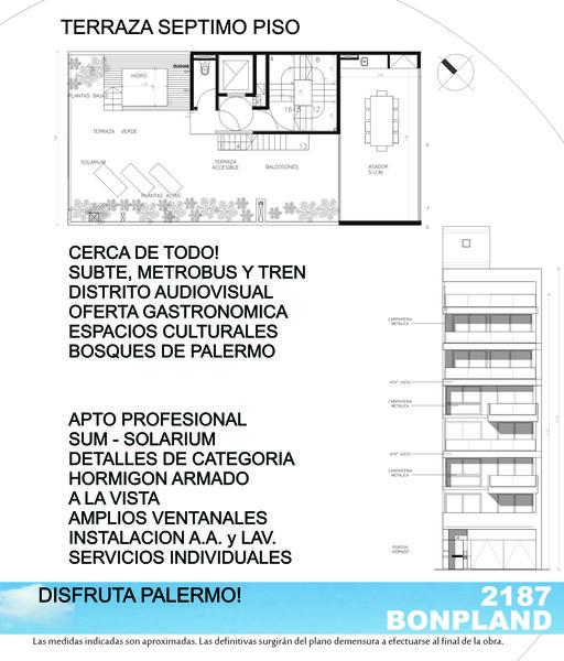 Foto Departamento en Venta   Alquiler en  Palermo Hollywood,  Palermo  Bonpland 2187 5to A
