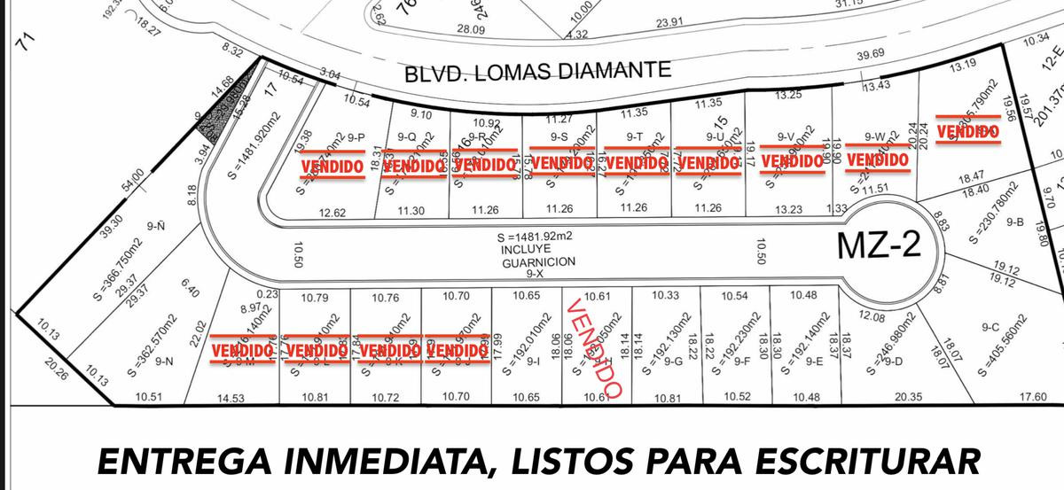 Foto Terreno en Venta en  Lomas Diamante,  Alvarado          LOMAS DIAMANTE, Terreno en VENTA desde 192 m2 en $4,550 el m2 (PC)