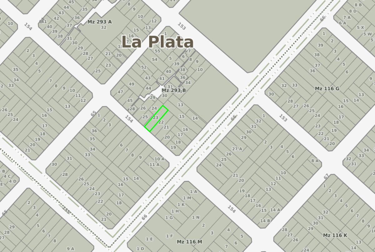 Foto Terreno en Venta en  Los Hornos,  La Plata  154 e/ 65 y 66