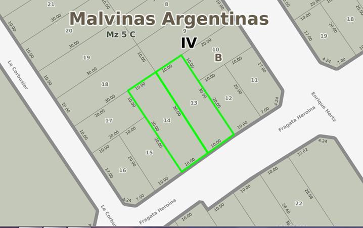 Foto Terreno en Venta en  Area de Promoción El Triángulo,  Malvinas Argentinas  Fragata Heroina