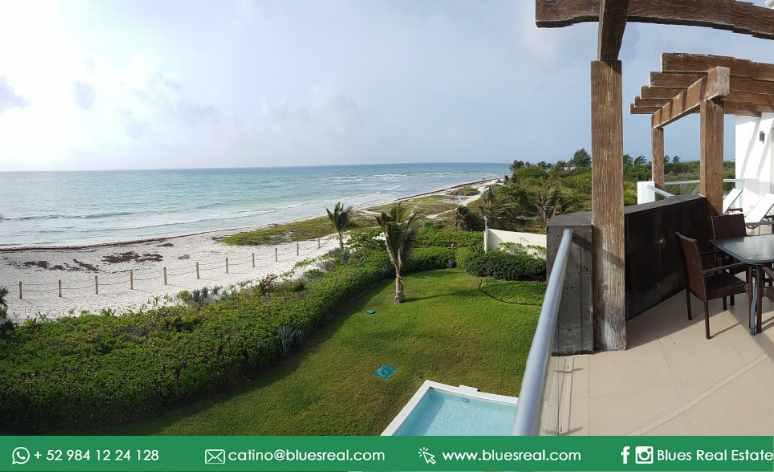 Picture House in Rent in  Solidaridad ,  Quintana Roo  FULLY FURNISHED Apartment for RENT in Mareazul in front of the sea in Playa del Carmen | Blues Real | Code 952