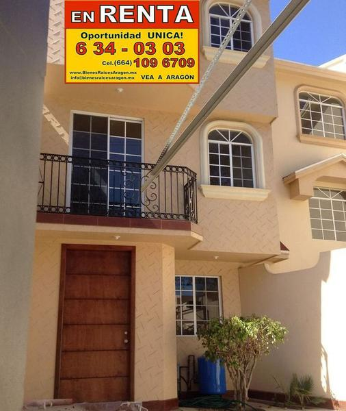 Foto Casa en Renta en  Playas de Tijuana,  Tijuana  RENTAMOS PRECIOSA CASA SEMI NUEVA 3 Rec en Playas de Tijuana Seccion Jardines en 3 Pisos