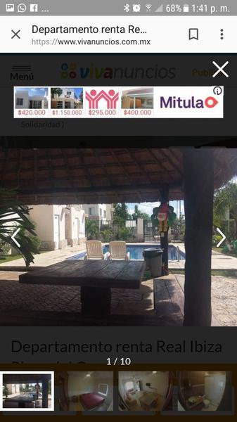 Foto Departamento en Venta en  Real Ibiza,  Solidaridad  DEPARTAMENTO EN VENTA EN PLAYA DEL CARMEN EN REAL IBIZA