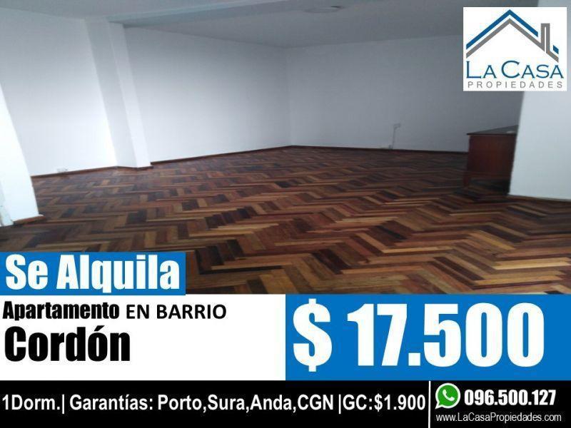 Foto Apartamento en Alquiler en  Cordón ,  Montevideo  EJIDO 1500
