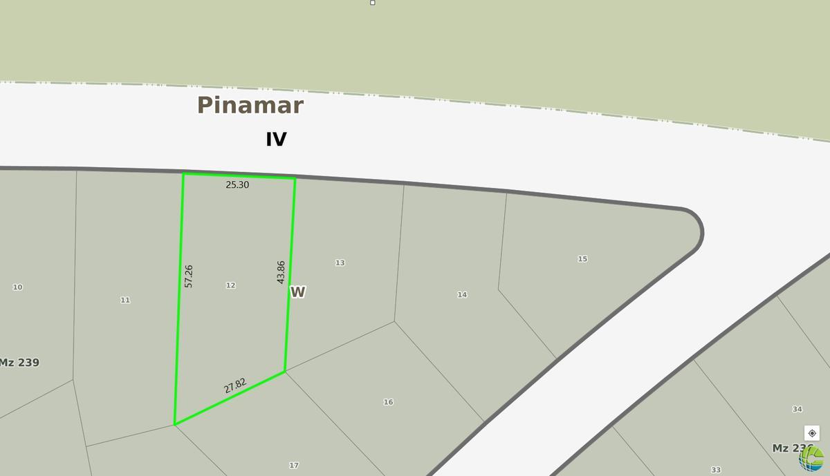 Foto Terreno en Venta en  Alamos,  Pinamar  Lt 12 Mz 239 - De la Calandria  100