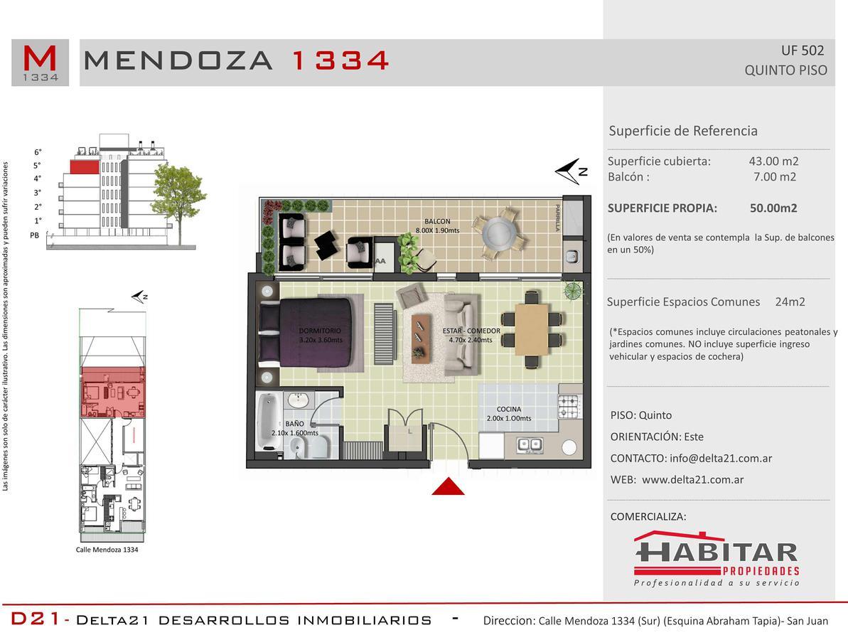 Foto Departamento en Venta en  Trinidad,  Capital  Calle Mendoza 1334 sur - Capital