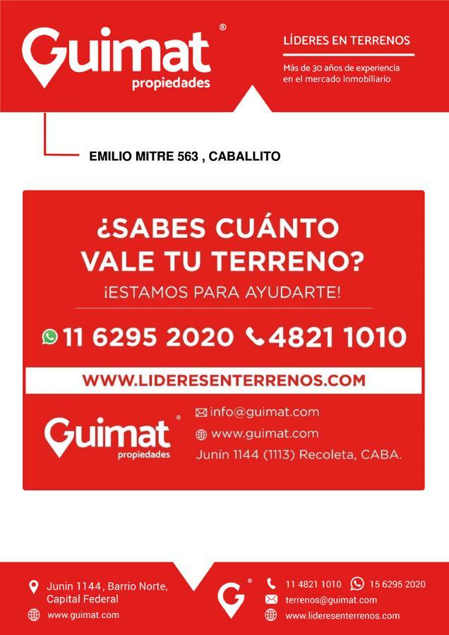 Foto Terreno en Venta en  Caballito ,  Capital Federal  EMILIO MITRE al 500