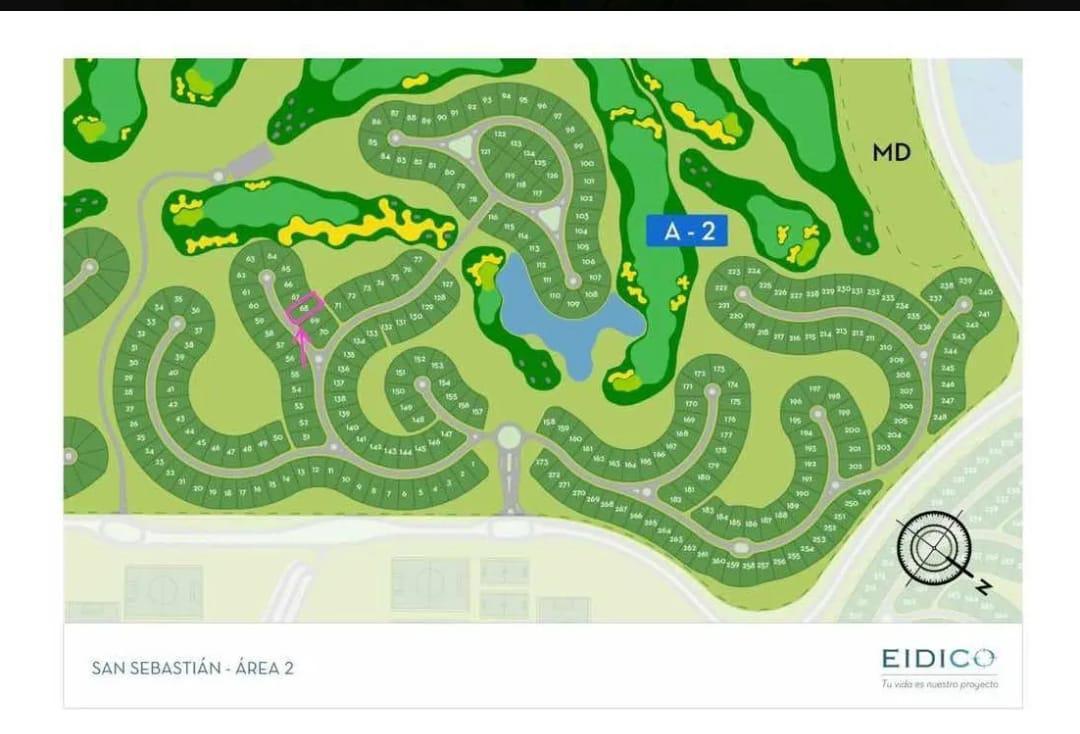Foto Terreno en Venta en  San Sebastián,  Escobar  Venta de excelente lote al golf en San Sebastian en Area 2