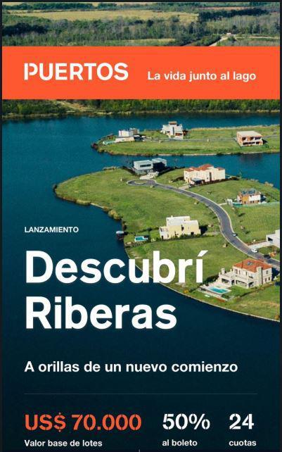 Foto Terreno en Venta en  Puertos del Lago,  Countries/B.Cerrado (Escobar)  Riberas Puertos