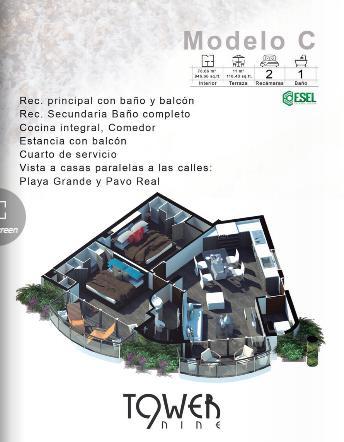 Foto Departamento en Venta en  Ojo de Agua,  Puerto Vallarta  DEPARTAMENTO 3 MODELO C TERCER NIVEL.