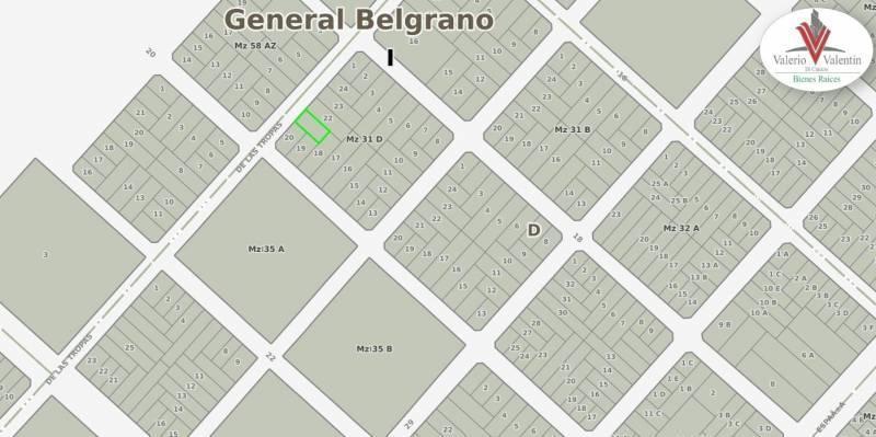 Foto Terreno en Venta en  General Belgrano,  General Belgrano  Calle 33 (Las Tropas) e/ 18 y20 al 100