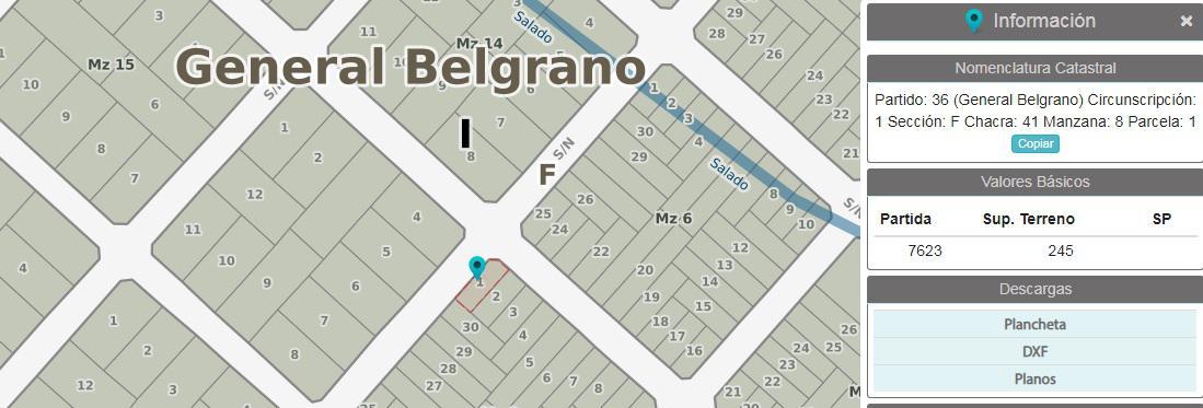 Foto Terreno en Venta en  Balneario Viejo,  General Belgrano  calle al 600