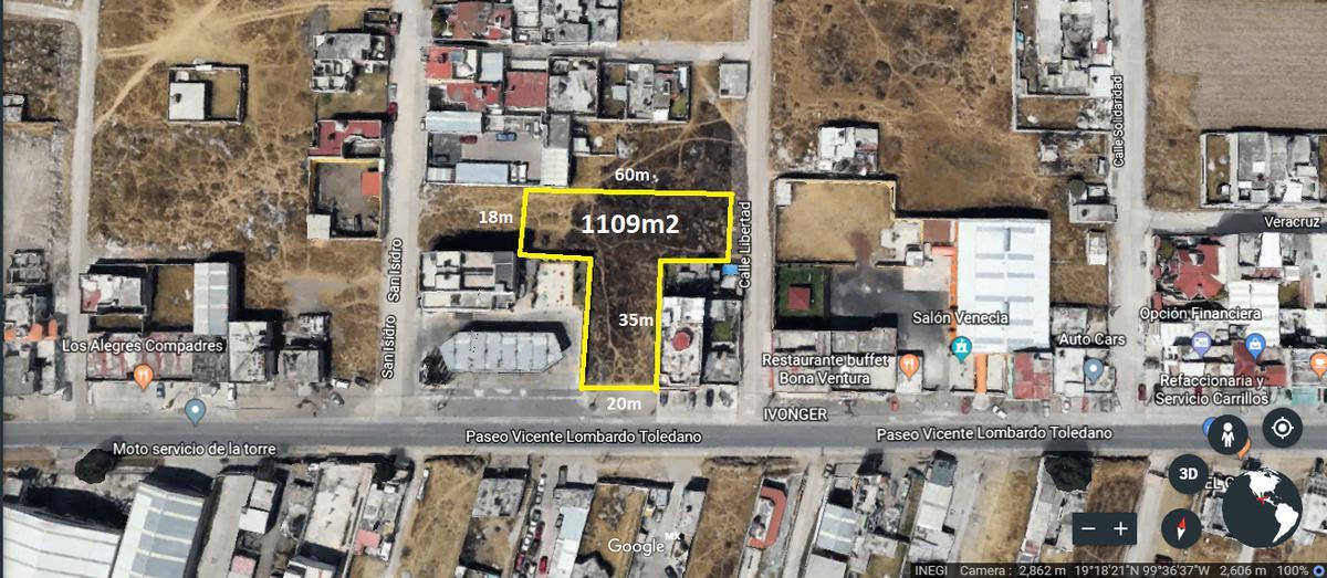 Foto Terreno en Venta en  San Lorenzo TepaltitlAn Centro,  Toluca          Terreno  de 1100 m2 en Venta en San Lorenzo Teplatitlan Toluca