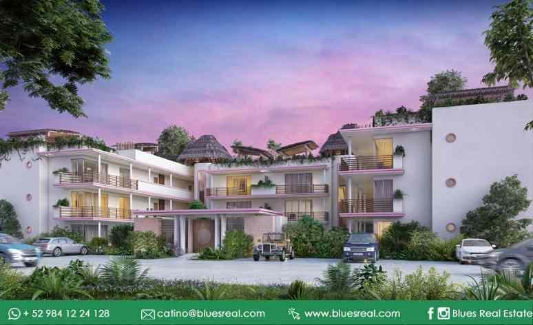 Picture Apartment in Sale in  Tulum,  Tulum  For sale apartment in Carmela Condo   Blues Real   Code 329