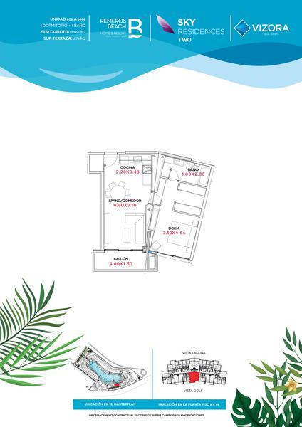 Foto Departamento en Venta en  Remeros Beach,  Rincon de Milberg  RB | SKY 2 - 908
