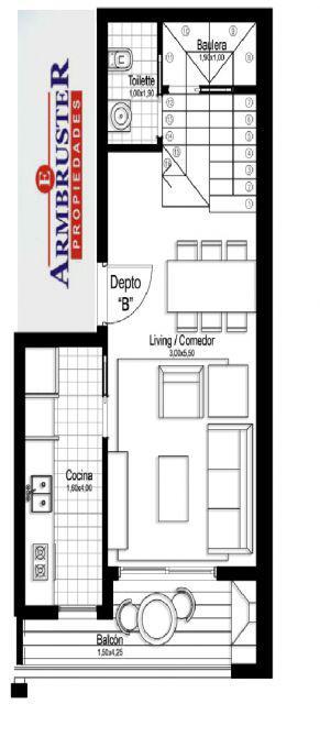 Foto Departamento en Venta en  Adrogue,  Almirante Brown  Nother 1122 Duplex B