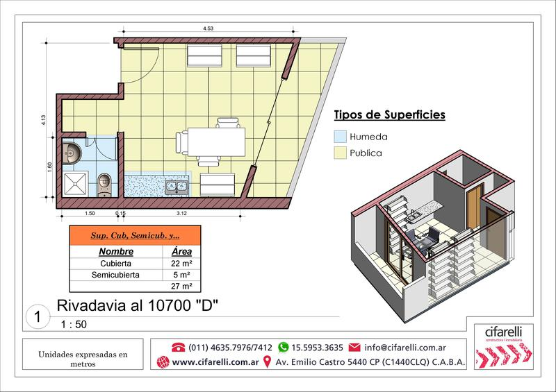 Foto Departamento en Venta en  Liniers ,  Capital Federal  Av Rivadavia al 10700 9° B
