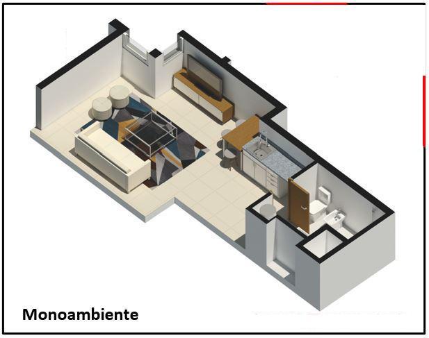 Foto Departamento en Venta en  Centro (Montevideo),  Montevideo  PISO 6, exoneración de impuestos,  monoambiente