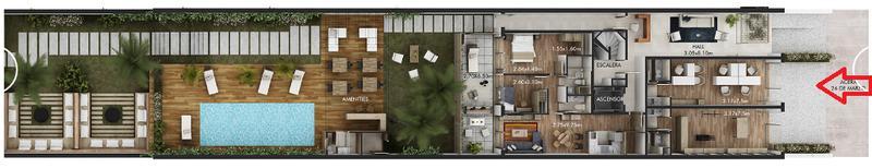 Foto Departamento en Venta en  Pocitos ,  Montevideo  A 200 metros del WTC, 2 dormitorios  y terraza